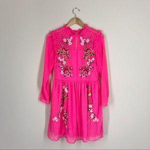ASOS | Floral Embroidered Pink Slater Dress